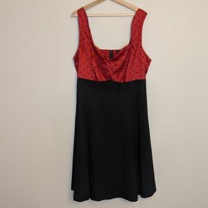 Red and Black Swing Dress